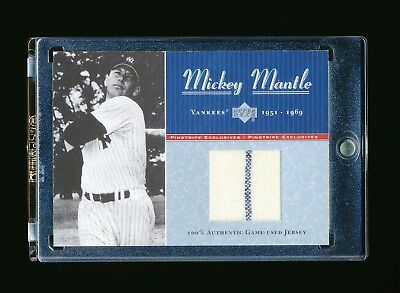 Mickey Mantle 2001 Upper Deck Pinstripe Exclusives Game Used Jersey Number 7/100