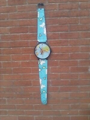 Large, Vintage World Map Wall Clock . Working.