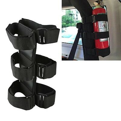 Roll Bar Fire Extinguisher Holder Safety Accessory Kit Fit Jeep Wrangler SUV Car