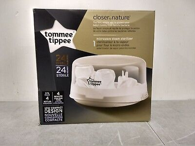 NEW-Tommee Tippee-Closer to Nature-Microwave Steam Sterilizer/Bottle Cleaner(A)8