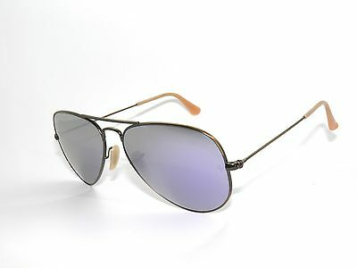 9723a7875b ... reduced ray ban sunglasses 3025 brushed bronze lilac mirror 167 4k  aviators new 58 96336 5491f