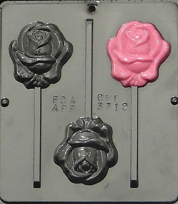Rose Lollipop Chocolate Candy Mold 3312 NEW