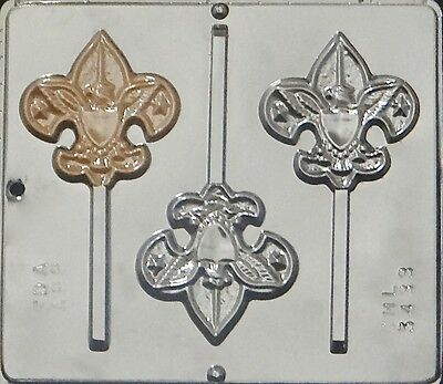 Boy Scout Lollipop Chocolate Candy Mold 3433 NEW