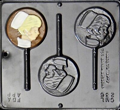Nurse Lollipop Chocolate Candy Mold 236 NEW