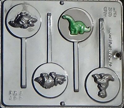 Dinosaurs Lollipop Chocolate Candy Mold 295 NEW