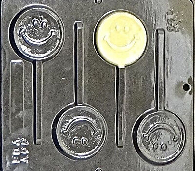 Smile Smiley Face Lollipop Chocolate Candy Mold 249 NEW