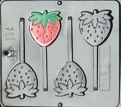 Strawberry Lollipop Chocolate Candy Mold 205 NEW