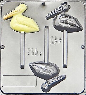 Pelican Lollipop Chocolate Candy Mold 3403 NEW