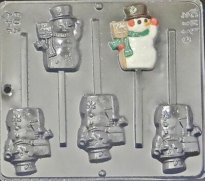 Snowman Lollipop Chocolate Candy Mold Christmas 2118 NEW
