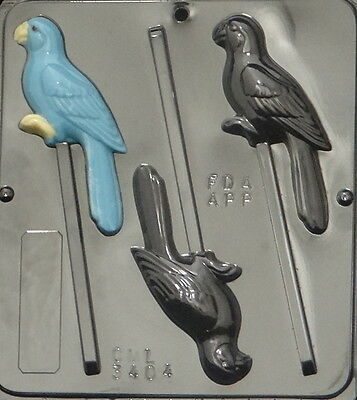 Parrot Lollipop Chocolate Candy Mold 3404 NEW