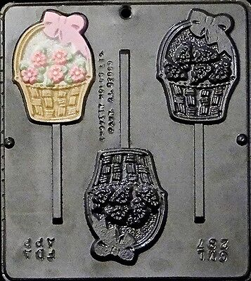 Flower Basket Lollipop Chocolate Candy Mold 287 NEW
