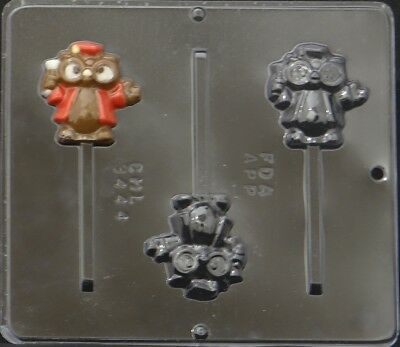 Graduation Owl Lollipop Chocolate Candy Mold 3444 NEW