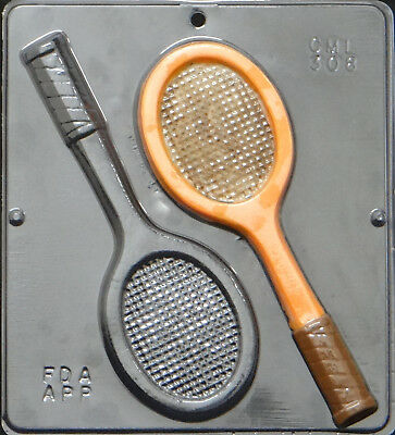 Tennis Racquets Chocolate Candy Mold 308 NEW