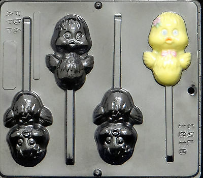 Chickie Lollipop Chocolate Candy Mold Easter 1818 NEW