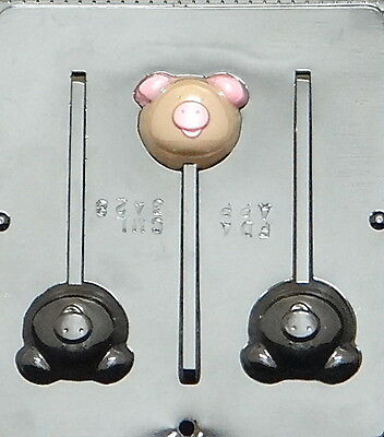 Pig Lollipop Chocolate Candy Mold Piggy 3428 NEW
