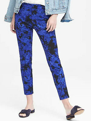 NWT Banana Republic $98 Women Sloan Skinny-Fit Floral Ankle Pant Size 0,2,4,6,8