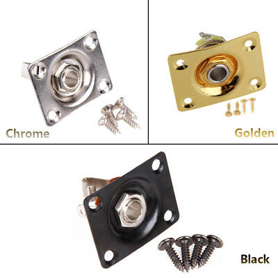 """Square Jack Plate Electric Guitar Bass 1/4""""6.35mm F0r Gibson Epiphone LP SG Tele"""