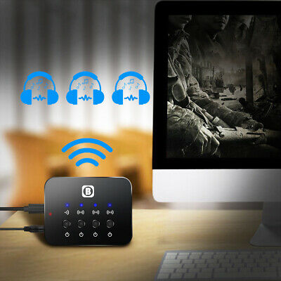 BW-107 Portable Bluetooth Splitter Audio Fast Transmitter Multi-point Adapter