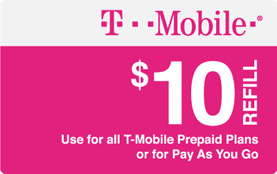T-Mobile  Prepaid $10 Refill Top-Up Prepaid Card , AIR TIME  PIN / RECHARGE