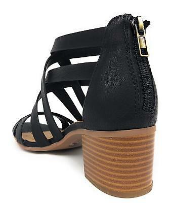 0832c432285f5 CITY CLASSIFIED WOMEN'S Closed Toe Ankle Strap Block Textured Heel ...