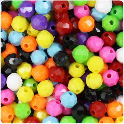 BeadTin Opaque 6mm Faceted Round Craft Beads (750pcs) - Color choice