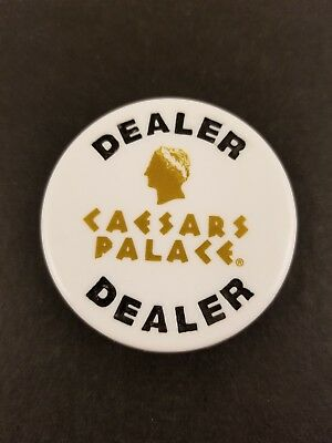 NEW Lot Of TWO Caesars Palace Poker Dealer Button Unique Card Protector