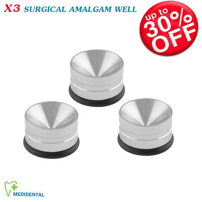 Set Of 3 Dental Amalgam Mixing Well Surgical Dispensing and Handling Tools New
