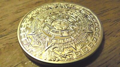 Golden Mayan Calendar 1oz Coin