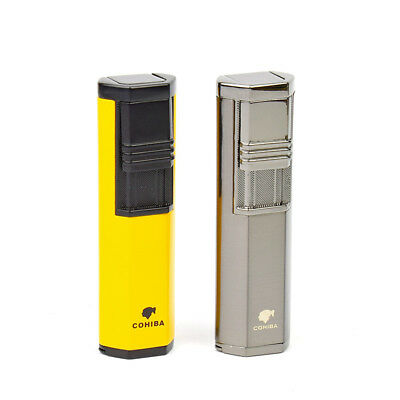 COHIBA Lighter Cigar Cigarette Cigar  Metal Torch Jet Flame with  Punch