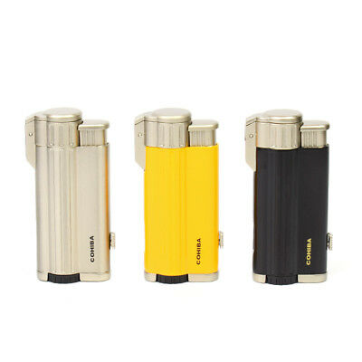 COHIBA cigar lighter three Torch jet flame windproof cigar lighter with puncher