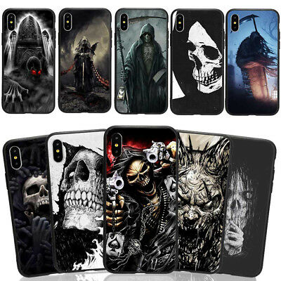 Halloween Skull Phone Case Cover For iPhone X 6/7/8+ &Samsung S7/8/9 Plus Gifts