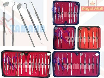 Dental Tools Professional Scaler Probes Pick SET Mouth Mirror Tool Kit Zamaha UK