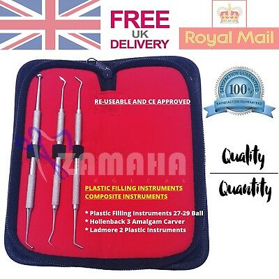 Dental Composite Instruments Set Dentistry Plastic Filling Instruments Zamaha UK
