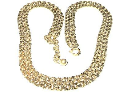 Garibaldi  2 reihiges Collier Kette Gold Double FBM Binder