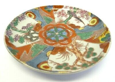 Antigua Porcelana Pintado a Mano China Pájaros Saucer Placa Plato Decorativa