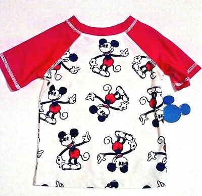 NWT Disney Mickey Mouse Rashguard Toddler Boys Junk Food Target Size 2T