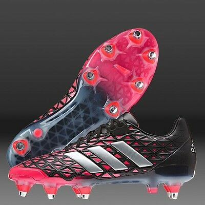 adidas adipower Kakari SG Black Red AQ2036 Rugby Boots Size UK 9.5, 10, 11