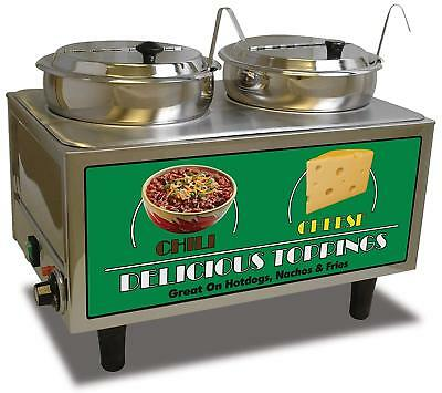 Chili cheese warmer concession stands fast-food restaurants cafeterias arenas