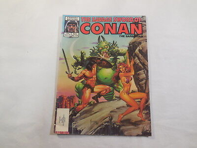 Marvel Magazine Savage Sword of Conan the Barbarian #118 1985