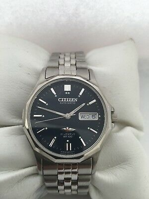 Citizen Men's Analogue Automatic 21 Jewels Day/ Date Blue Dial stainless steel