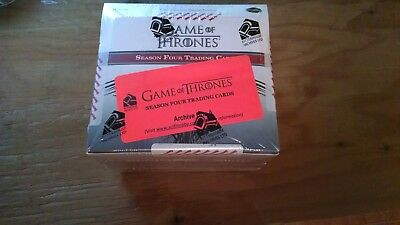Game of Thrones Season 4 Factory Sealed ARCHIVE BOX - Near Master Set
