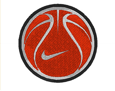 Nike Basketball Embroidered Iron On Patch