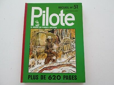 Pilote Recueil Du Journal Album Reliure Belge N°51 De 1971 Tbe/ttbe Blueberry