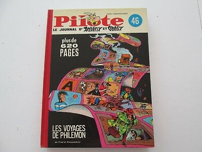 Pilote Recueil Du Journal Album Reliure Belge N°46 De 1970 Tbe/ttbe Philemon