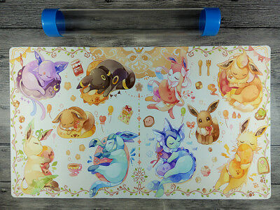 Pokemon Eeveelution Playmat Trading Card Game Custom Duel Playmat Free Best tube