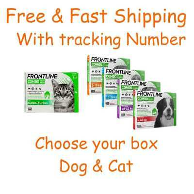 Frontline combo for dog & cat Large dog small flea cats dogs free fast shipping
