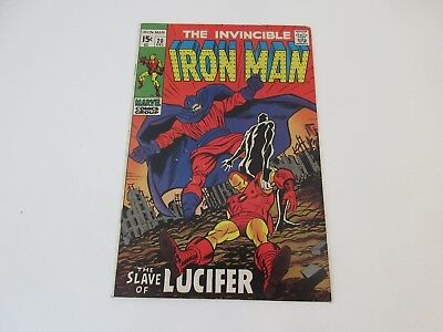 "The Invincible Iron Man, No 20 - ""The Slave of Lucifer"" Dec 1969 - vgc"
