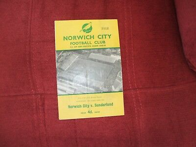 Norwich Cty V Sunderland Fa Cup 18-2-1961