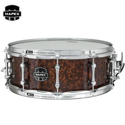 """NEW Mapex ARMORY Dillinger 14"""" Maple Snare Drum ARML4550KCWT Walnut Stain"""