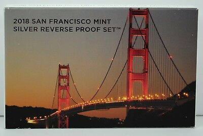2018-S SOLD OUT San Francisco Mint Reverse Proof Silver Set in OGP+COA 18XC